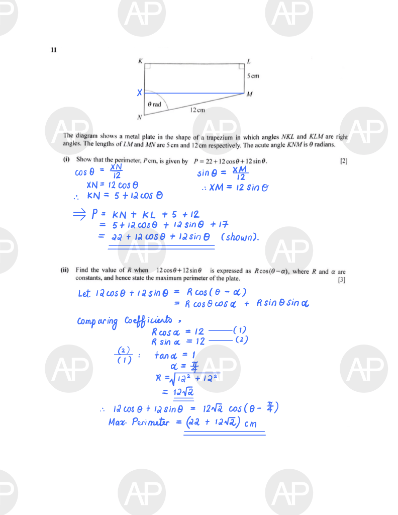 2019 O Level A Math Paper 2 The Annexe Project Page 15