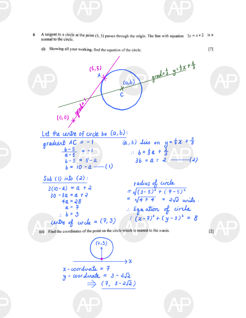2019 O Level A Math Paper 2 The Annexe Project Page 7